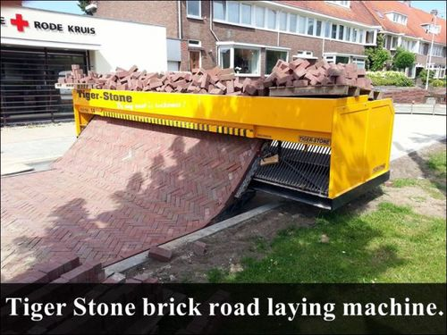 TIger Stone brick road laying machine